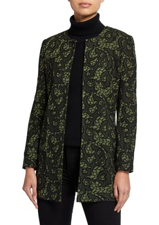 Misook Plus Size Tapestry Long Jacket