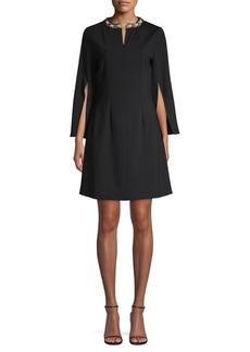 Misook Ponte Embellished Dress
