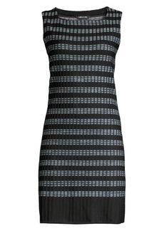 Misook Ribbed Digital Pattern Sheath Dress