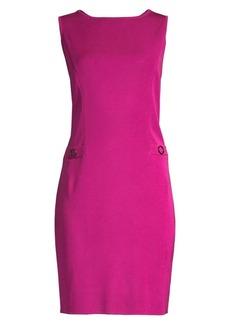 Misook Ring Detail Sheath Dress