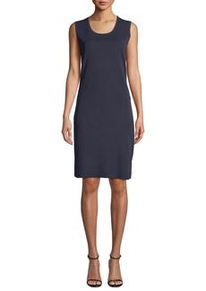 Misook Scoop-Neck Sleeveless Knee-Length Sheath Dress