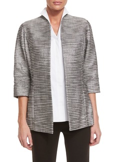 Misook Silver Linings Metallic Jacket