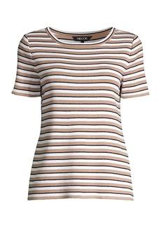 Misook Striped Knit T-Shirt