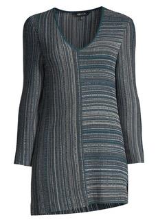 Misook Striped Melange Knit Top