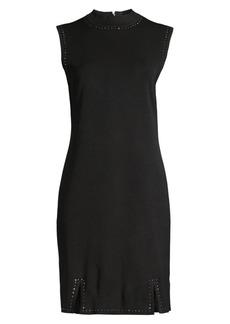 Misook Stud Trim Sleeveless Sheath Dress