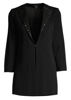 Misook Studded Collar Knit Jacket