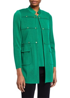 Misook Studded Long Jacket