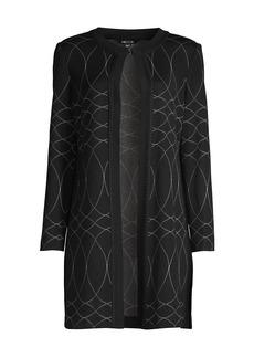 Misook Swirl Pattern Knit Topper