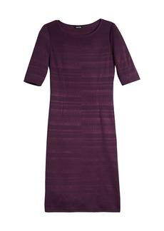Misook Textured Knit Midi Dress