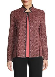 Misook Tweed Pattern Jacket