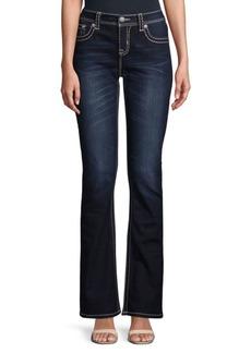 Miss Me Big Stitch Mid-Rise Jeans