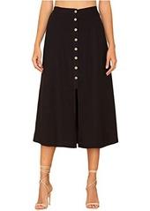 Miss Me Button-Down A-Line Skirt