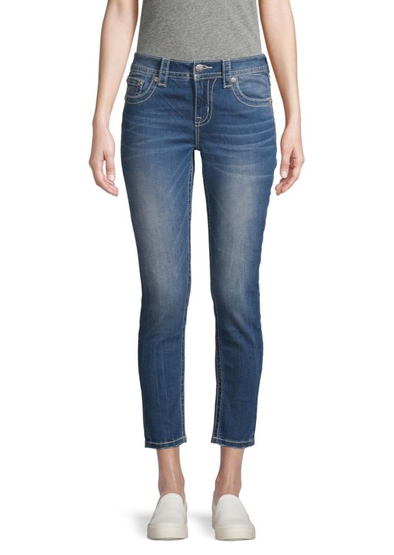 Miss Me Cotton Cropped Jeans