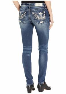 Miss Me Cross Swing Hailey Skinny Jeans in Dark Blue