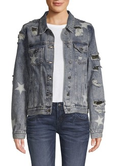Miss Me Destroyed Denim Jacket