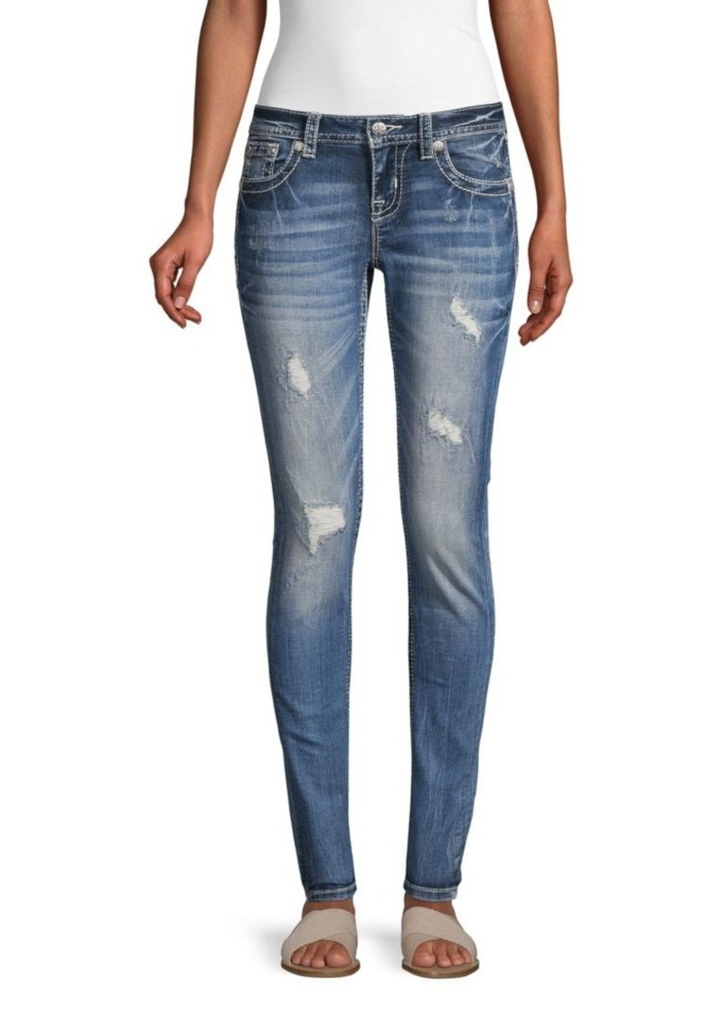 Miss Me Distressed Signature Skinny Jeans