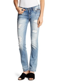 Miss Me Distressed Straight Leg Jeans