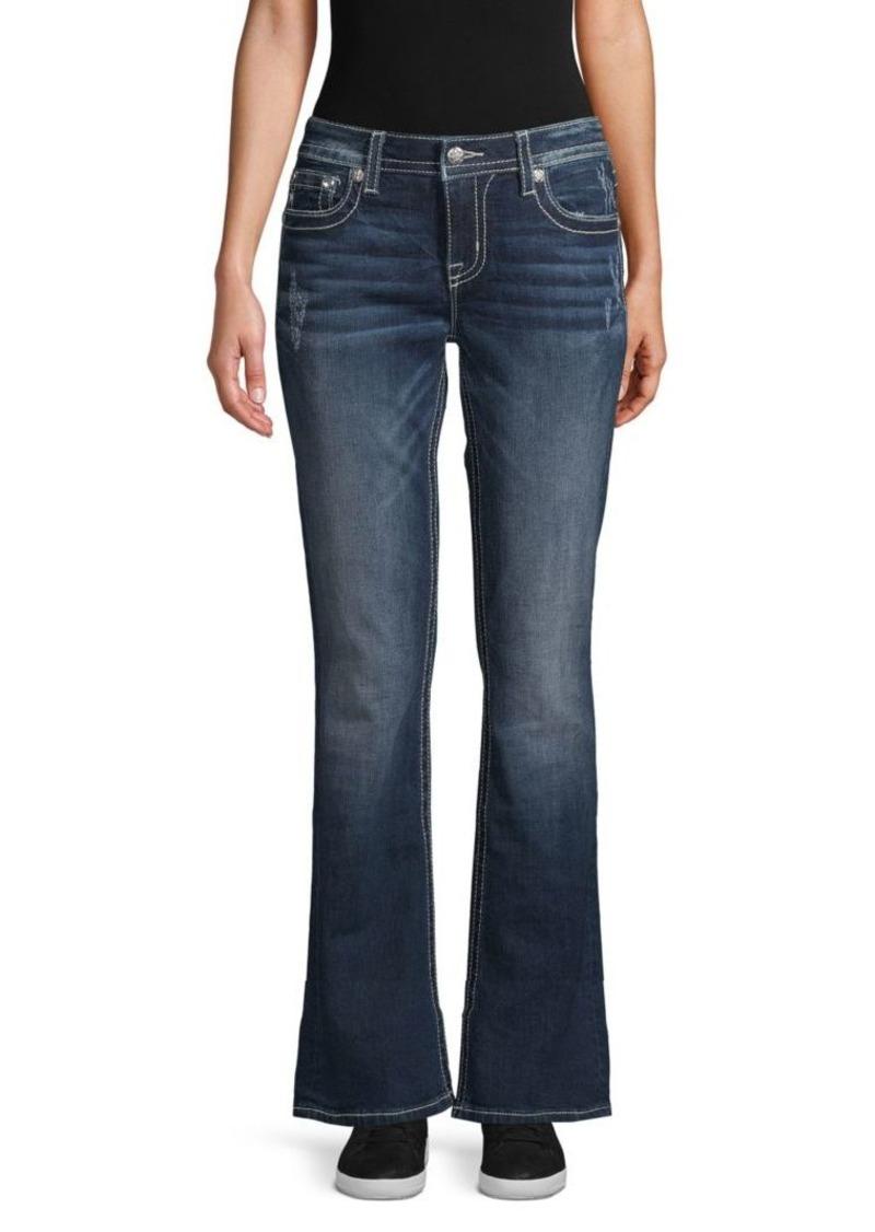 Miss Me Embellished Wide-Leg Jeans