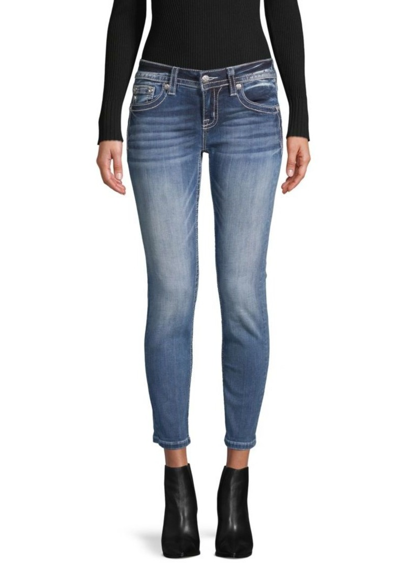 Miss Me Embroidered Ankle Jeans