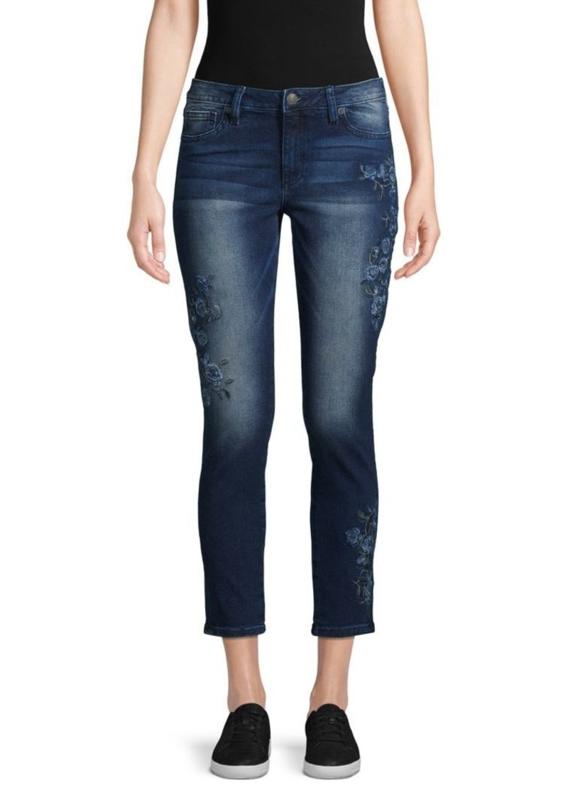 Miss Me Embroidered Cropped Jeans