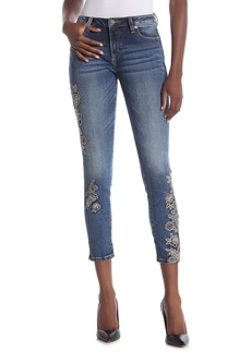 Miss Me Enchanted Blooms Mid-Rise Ankle Skinny Jeans