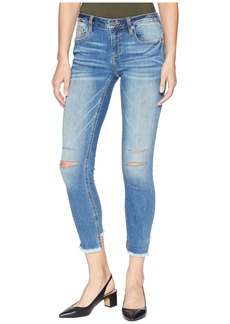 Miss Me Five-Pocket Ankle Skinny Jeans in Medium Blue