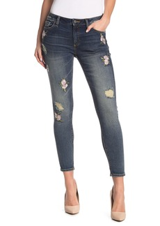 Miss Me Floral Embroidered Skinny Jeans