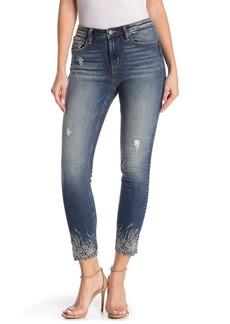 Miss Me Floral Hem Skinny Jeans