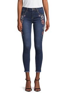 Miss Me Floral Skinny Ankle Jeans
