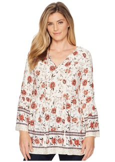 Miss Me Floral V-Neck Bell Sleeve Tunic
