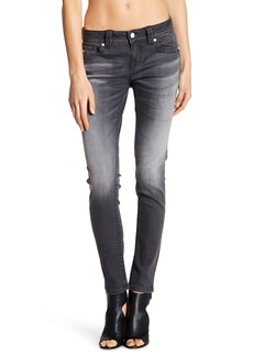 Miss Me Gray Mid Rise Skinny Jeans