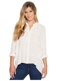 Miss Me High-Low Button Long Sleeve Top