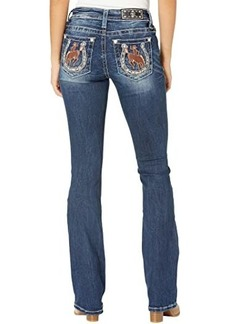 Miss Me Horseshoe Bootcut Jeans in Dark Blue