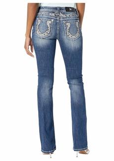 Miss Me Horseshoe Bootcut Jeans in Medium Blue