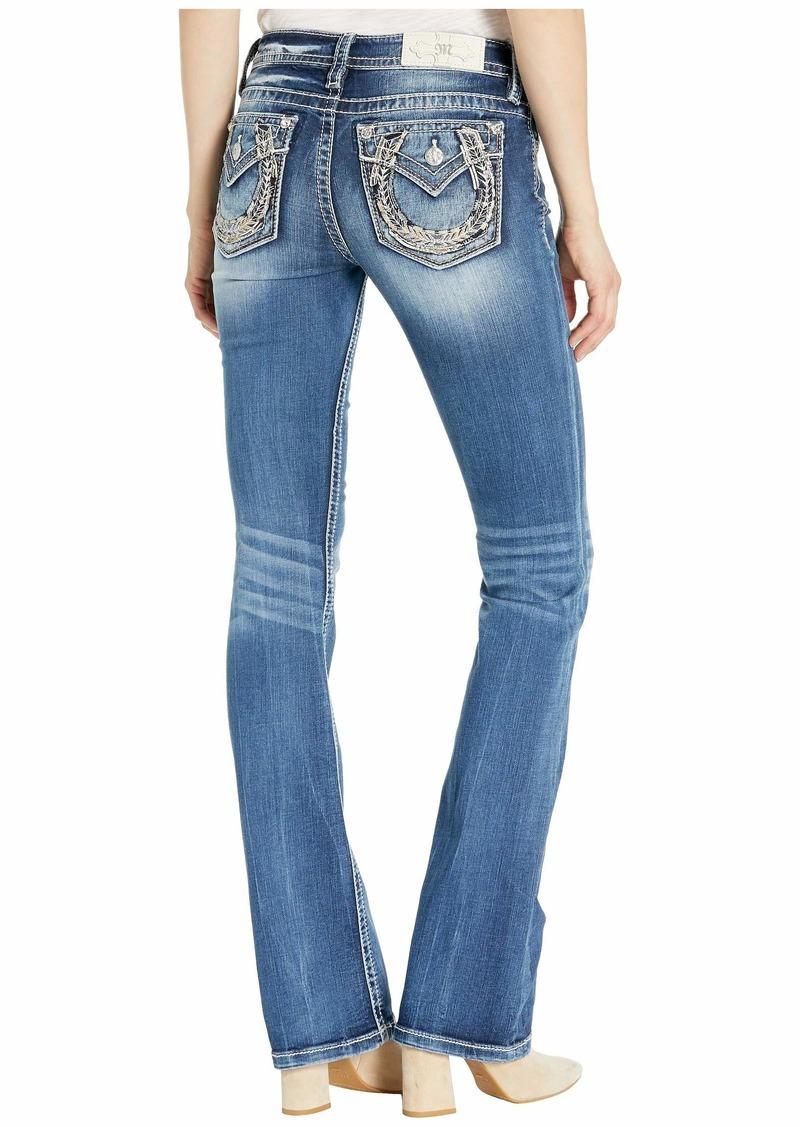 Miss Me Horseshoe Chloe Bootcut Jeans in Dark Blue