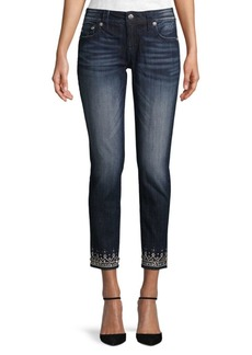 Miss Me Jeweled Bottom Ankle Skinny Jeans