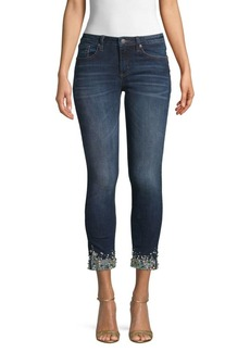 Miss Me Jeweled Bottom Cropped Jeans