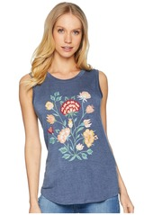 Miss Me Lace Back Flower Sleeveless Top