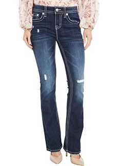 Miss Me Mid-Rise Americana Bootcut in Dark Blue