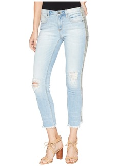 Miss Me Mid-Rise Ankle Straight Jeans in Light Blue