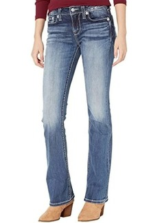 Miss Me Mid-Rise Bootcut with Dreamcatcher Pocket in Dark Blue