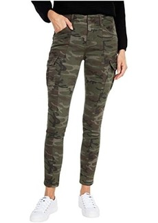 Miss Me Mid-Rise Cargo Skinny in Camo Green