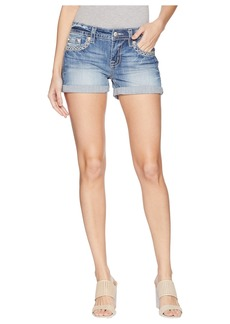 Mid-Rise Cuffed Shorts