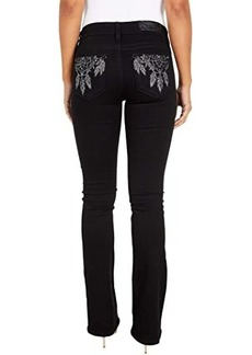 Miss Me Mid-Rise Dreamcatcher Bootcut in Black