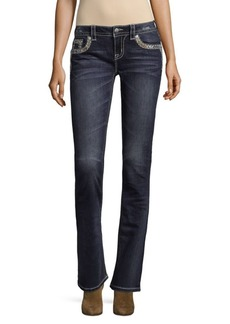 Miss Me Abstract Detailed Jeans
