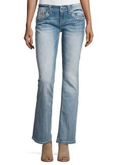 Miss Me Boot-Cut Embellished Pocket Jeans