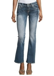 Miss Me Boot-Cut Embellished-Pocket Jeans