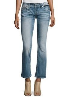 Miss Me Boot-Cut Fleur de Lis Ankle Jeans