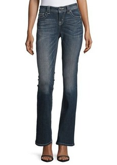 Miss Me Boot-cut Jeweled-Rivet Jeans
