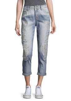 Miss Me Cotton Ankle Boyfriend-Fit Jeans